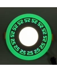 """Панель""""ГРЕК""""3+3W коло 4500К зелений LM533"""