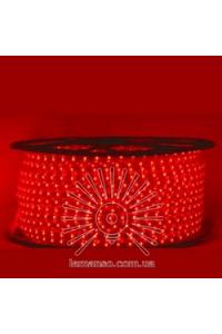 Дюралайт/стрічка 100м 220V  5W IP68 червона  LM588