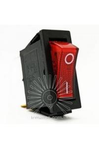LSW01 Перемикач вузький червоний з підсвіт.LEMANSO