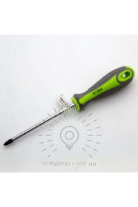 Викрутка хрестова PH2х125 сіро-зелена LEMANSO LTL40008