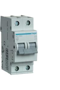 Автоматичний вимикач In=16A, 2п, С, 6kA, 2м  Hager