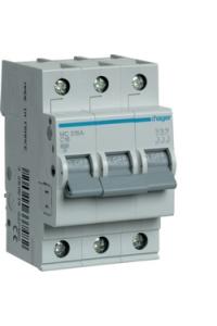 Автоматичний вимикач In=16A, 3п, С, 6kA, 3м  Hager