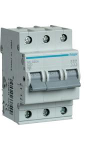 Автоматичний вимикач In=20A, 3п, С, 6kA, 3м  Hager