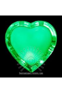 Нічник серце зелений NL 4