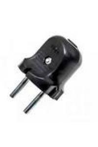Вилка ЕМП 10А колокольчик (чорний) (20/800)