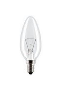 Лампа ЛЗП Іскра В36 230В 40W E14 манжета свічка