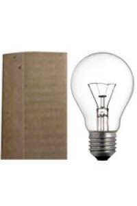 Лампа ЛПЗ A50 230В  40Вт Е27 пр манжета