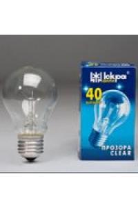 Лампа ЛПЗ Іскра А50 230В 40Вт Е27 прозора