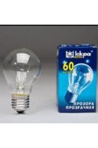 Лампа ЛПЗ Іскра А50 230В 60Вт Е27 прозора