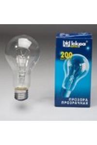 Лампа ЛПЗ Іскра А55 230В 200Вт Е27 прозора
