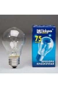 Лампа ЛПЗ Іскра А55 230В  75Вт Е27 прозора