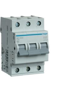 Автоматичний вимикач In=10A, 3п, С, 6kA, 3м  Hager