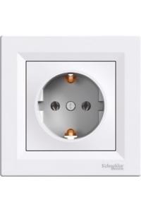 Розетка з заземл.конт., білий, Аsfora Schneider Electric
