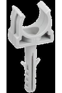 Тримач з засувкой та дюбелем CT16 ІЕК (100шт/пак)