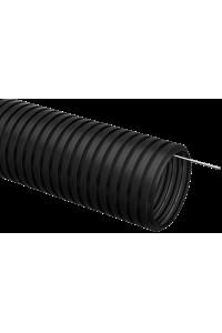 Труба гофр.ПНТ d32 із зондом (25 м) ІЕК чорний