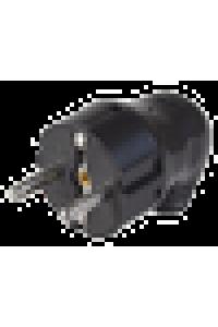 ВПу11-02-Ст Вилка розбірна кутова з з/к 16А чорна