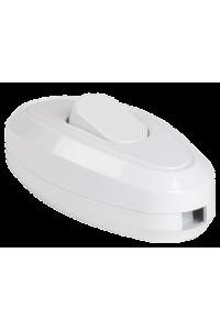 ВБ-01Б Вимикач одноклавішний разбірний для бра, білий IEK