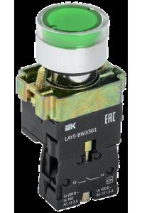 Кнопка управління LAY5-BW3361 з підсвічуванням зелений 1з IEK