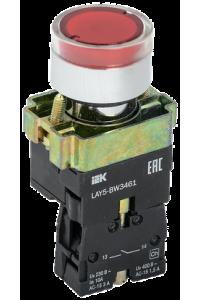 Кнопка управління LAY5-BW3461 з підсвічуванням червоний 1з IEK