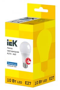 Лампа LED ALFA A60 куля 10Вт 230В 6500К E27 IEK
