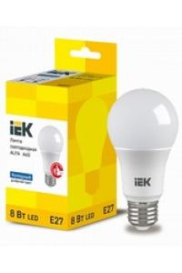 Лампа LED ALFA A60 куля  8Вт 230В 6500К E27 IEK