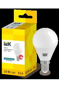 Лампа LED ALFA G45 куля 10Вт 230В 4000К E14 IEK