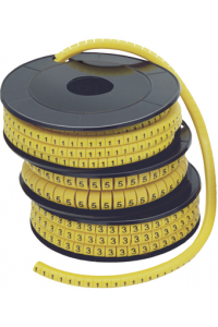 """Маркер МК3- 6мм символ """"0""""  350шт/ролл  ІЕК"""