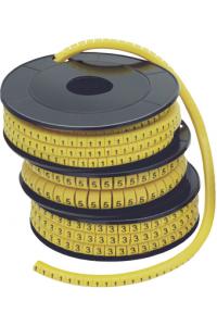 """Маркер МК3- 6мм символ """"3""""  350шт/ролл  ІЕК"""