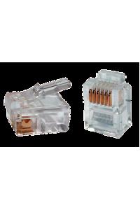 ITK Роз'єм RJ12 UTP для кабеля кат.3, 6P4C