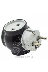 Перехідник-адаптер білий+чорний LMА 7309