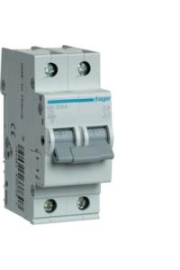 Автоматичний вимикач In=06A, 2п, С, 6kA, 2м  Hager