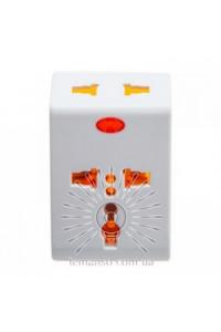 Перехідник-адаптер з індикатором білий+помаранчевий LMА7303