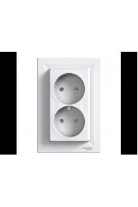 Розетка подвійна без заземл.конт.білий, Аsfora Schneider Electric